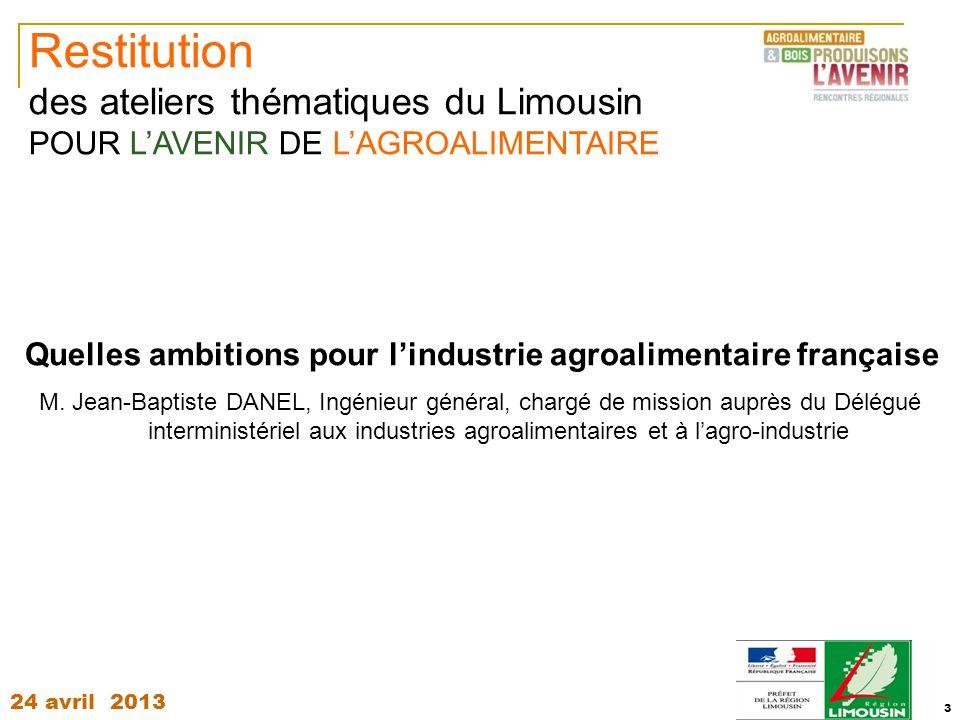 Quelles ambitions pour l'industrie agroalimentaire française