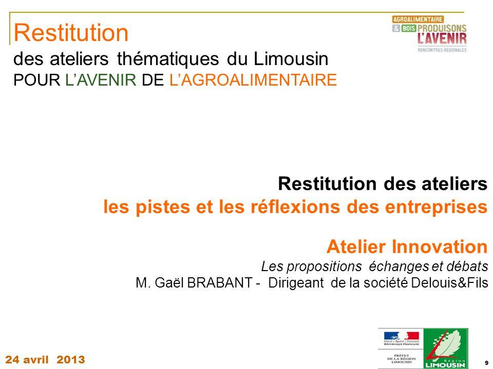 Restitution des ateliers thématiques du Limousin