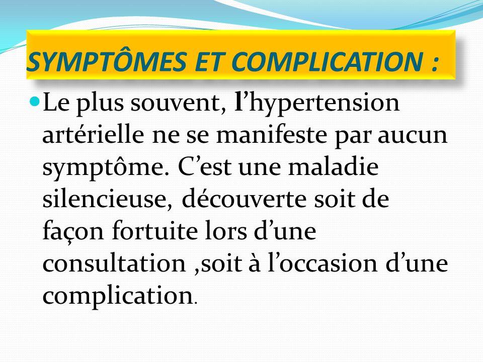 symptômes et complication :