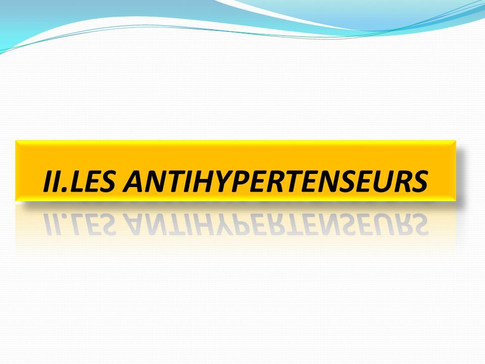 II.LES ANTIHYPERTENSEURS