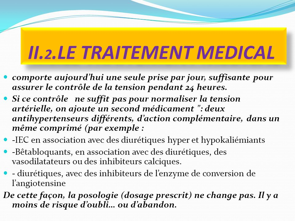 II.2.LE TRAITEMENT MEDICAL