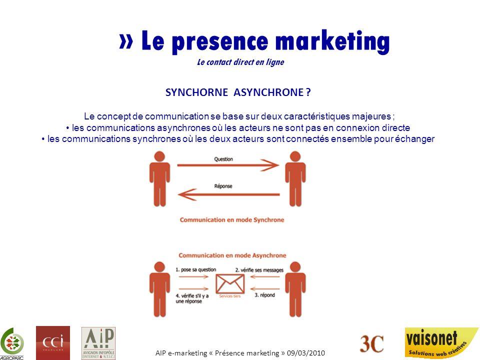 » Le presence marketing Le contact direct en ligne