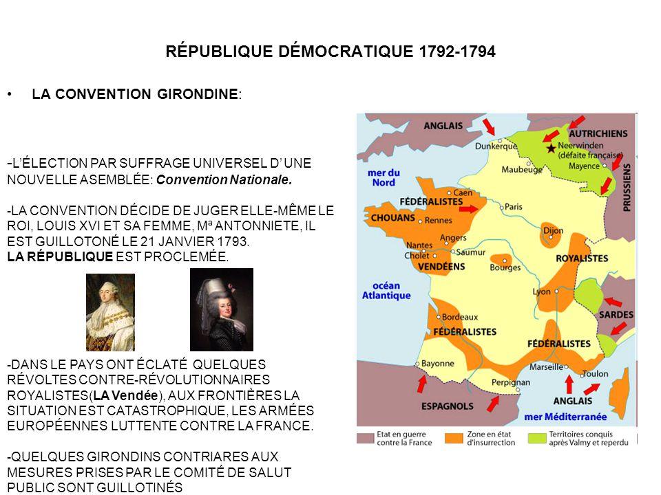 RÉPUBLIQUE DÉMOCRATIQUE 1792-1794