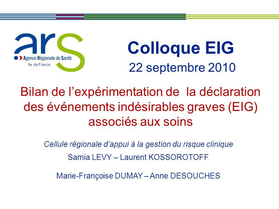 Colloque EIG 22 septembre 2010