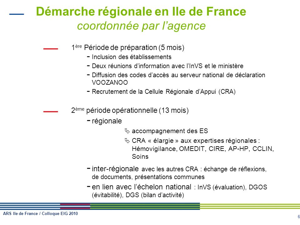 Démarche régionale en Ile de France coordonnée par l'agence
