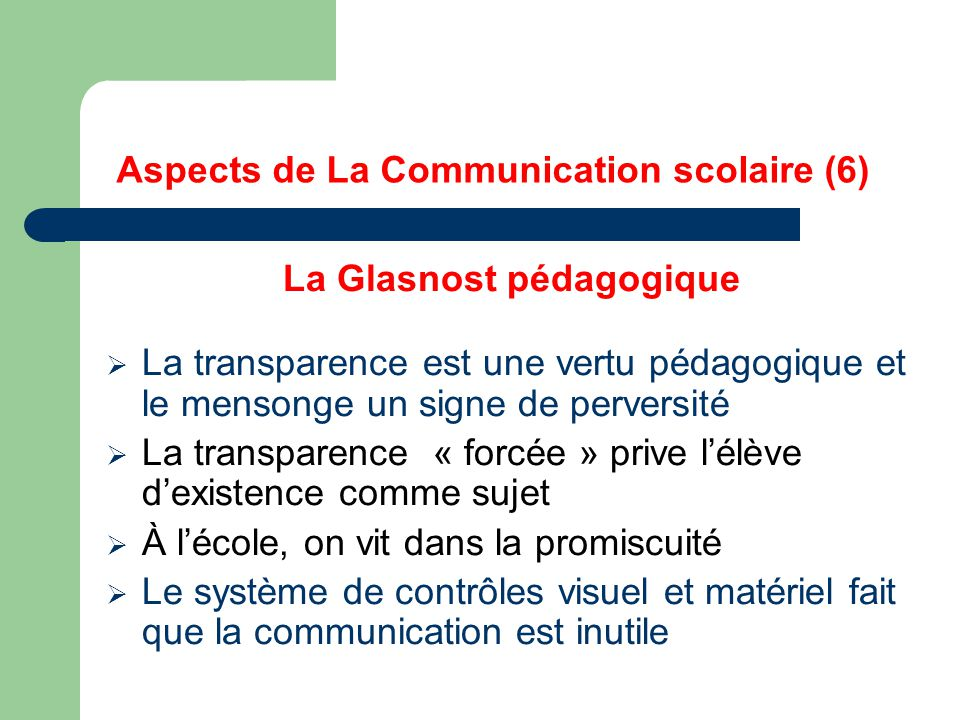 Aspects de La Communication scolaire (6)