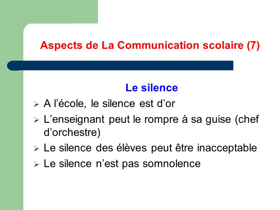 Aspects de La Communication scolaire (7)