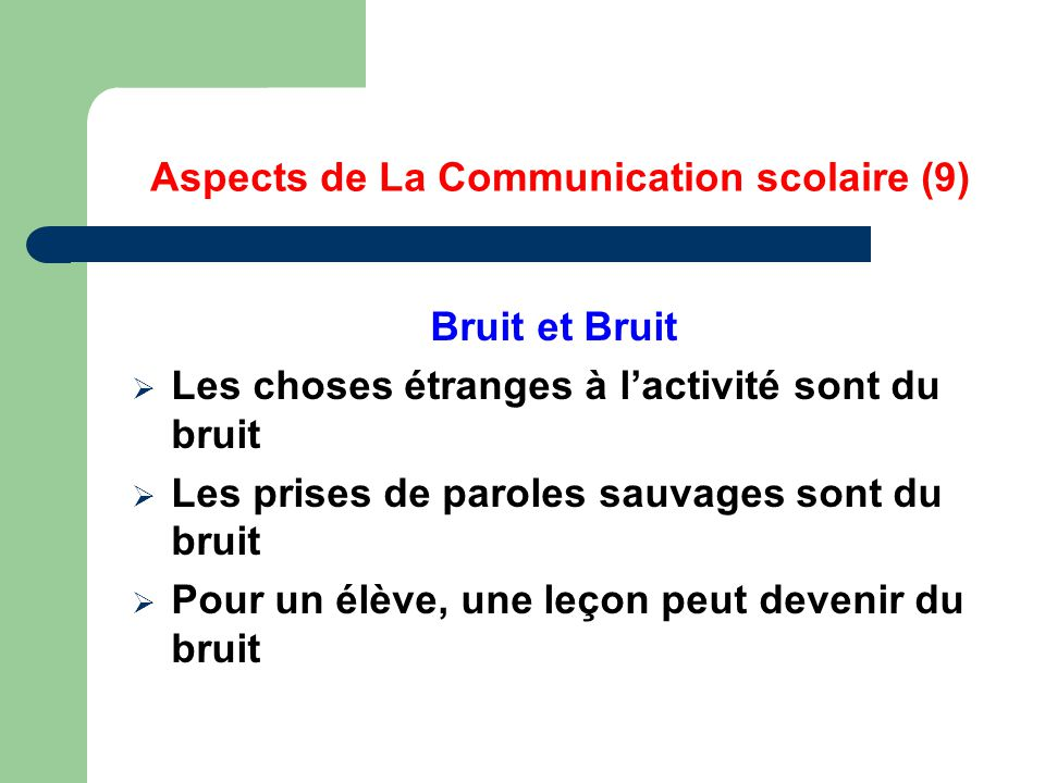 Aspects de La Communication scolaire (9)