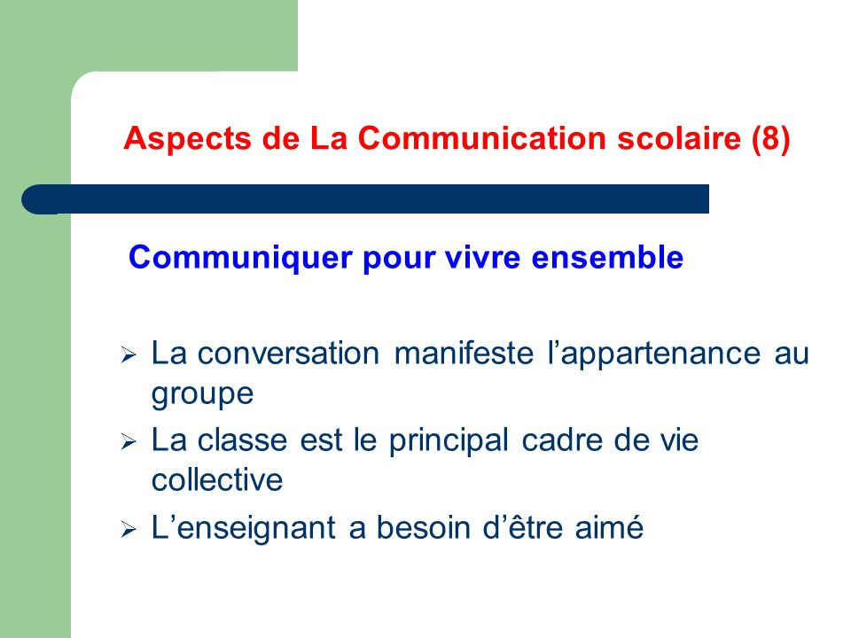 Aspects de La Communication scolaire (8)