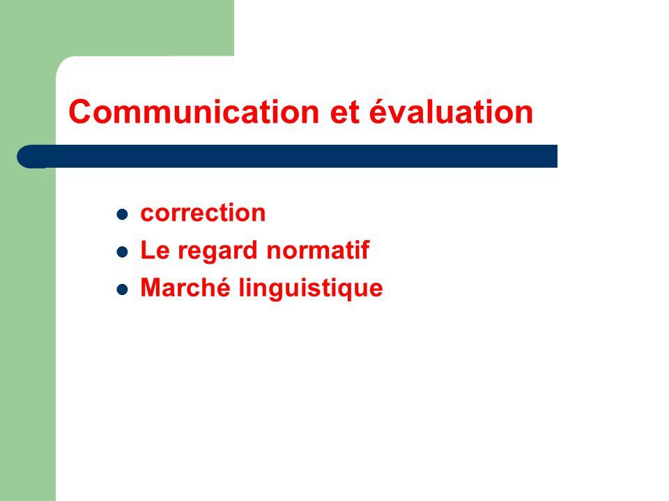 Communication et évaluation