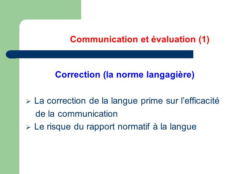 Communication et évaluation (1)