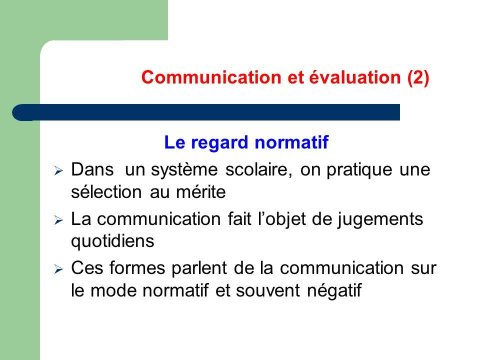 Communication et évaluation (2)