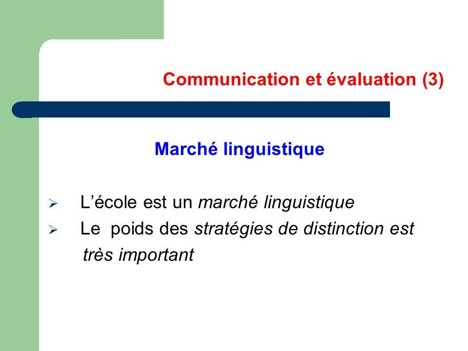 Communication et évaluation (3)