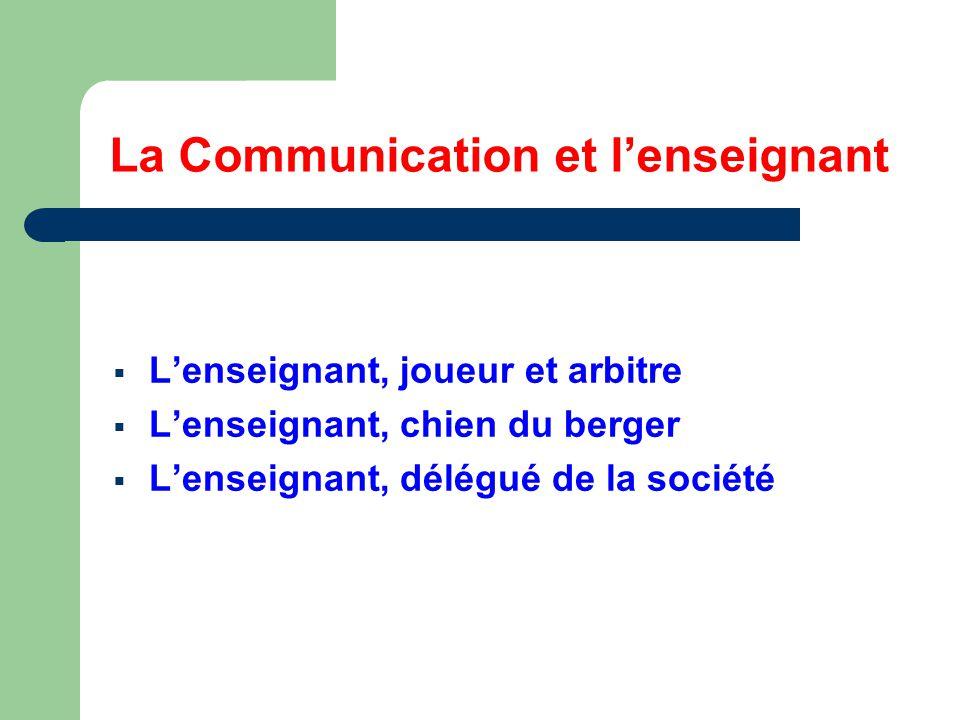 La Communication et l'enseignant