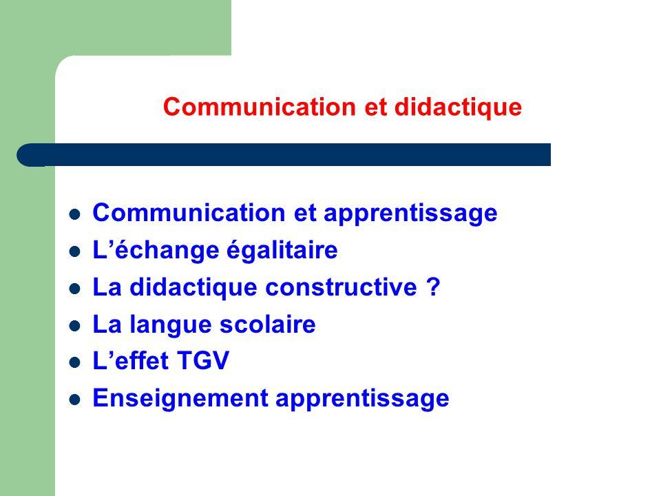 Communication et didactique