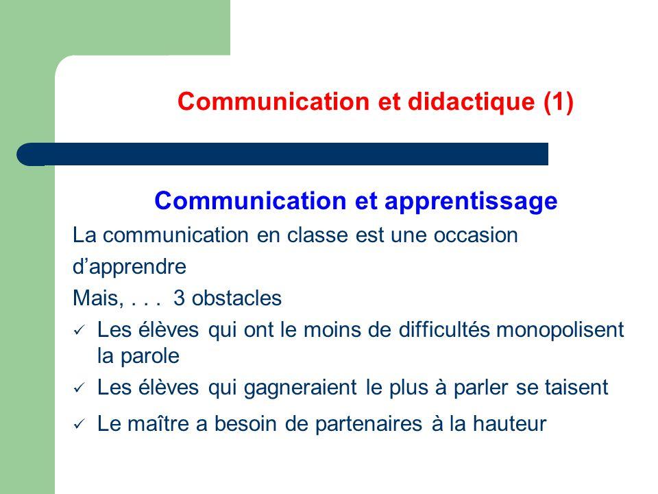 Communication et didactique (1)