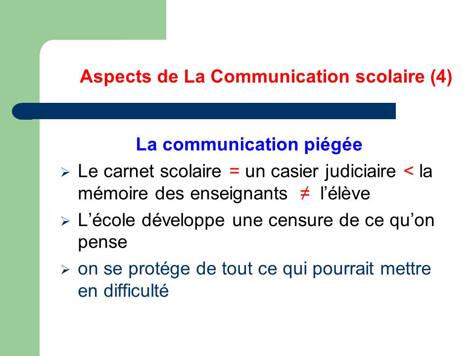 Aspects de La Communication scolaire (4)