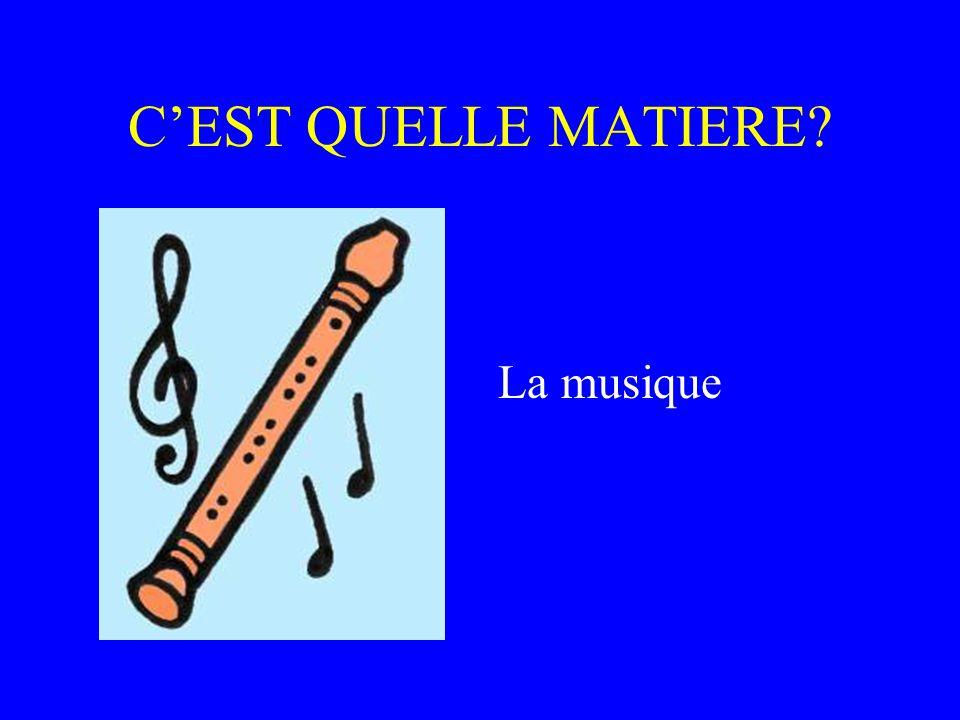 C'EST QUELLE MATIERE La musique