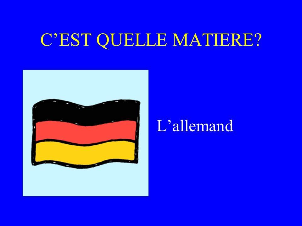 C'EST QUELLE MATIERE L'allemand