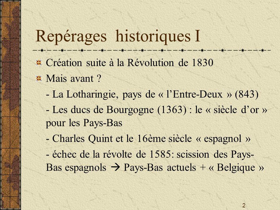 Repérages historiques I