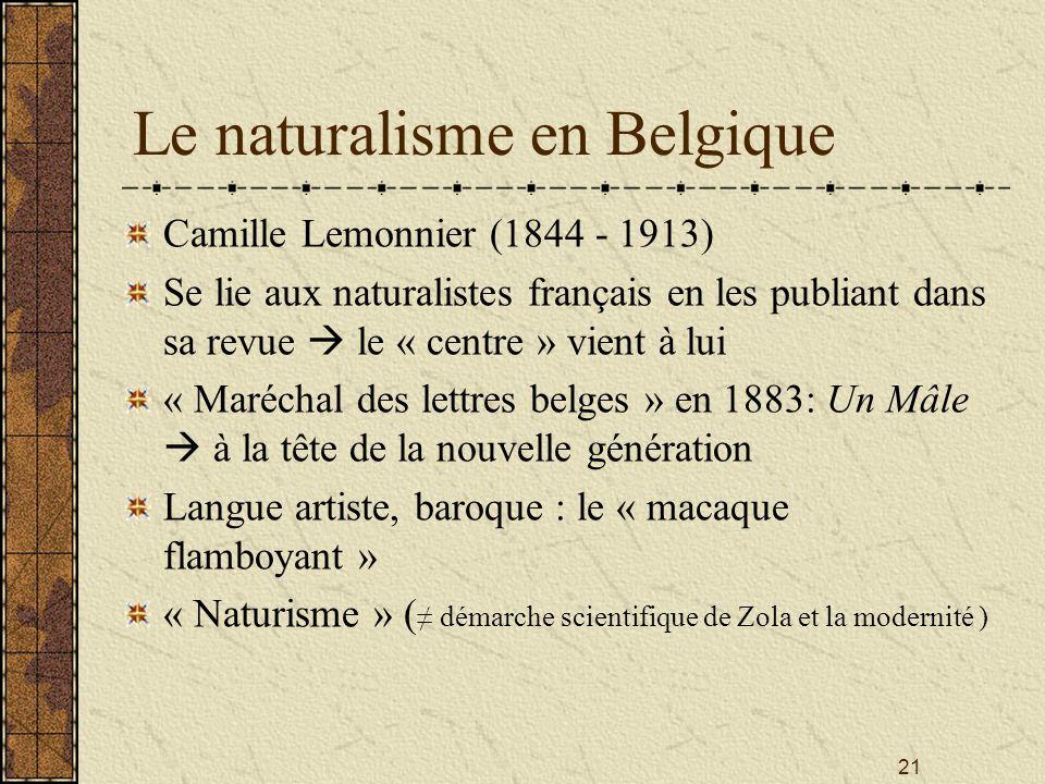 Le naturalisme en Belgique
