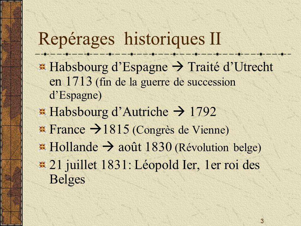 Repérages historiques II