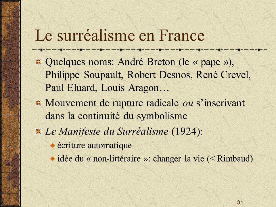 Le surréalisme en France