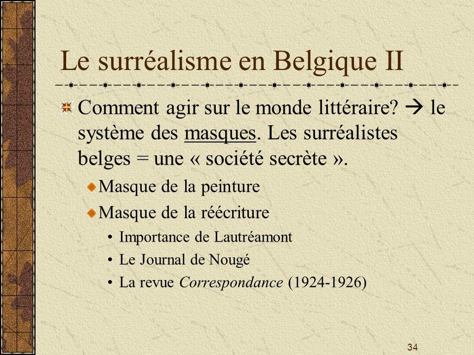 Le surréalisme en Belgique II