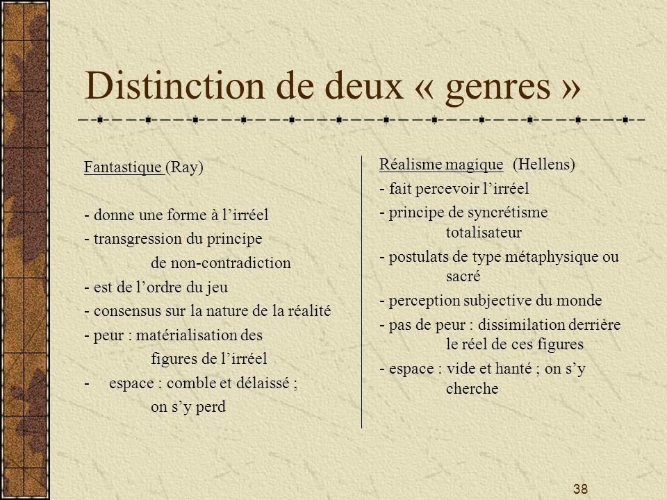 Distinction de deux « genres »
