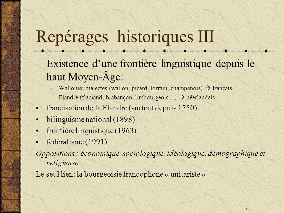 Repérages historiques III