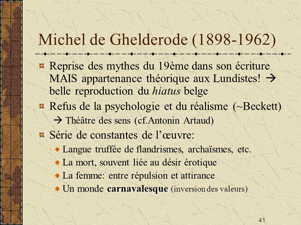 Michel de Ghelderode (1898-1962)