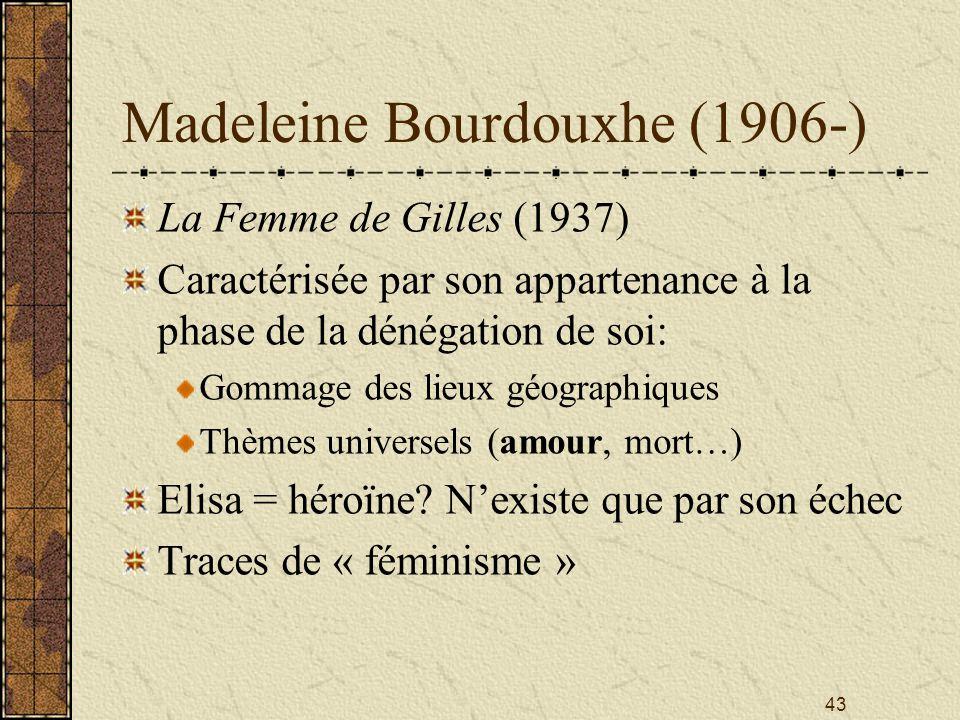 Madeleine Bourdouxhe (1906-)