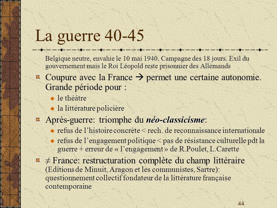 La guerre 40-45