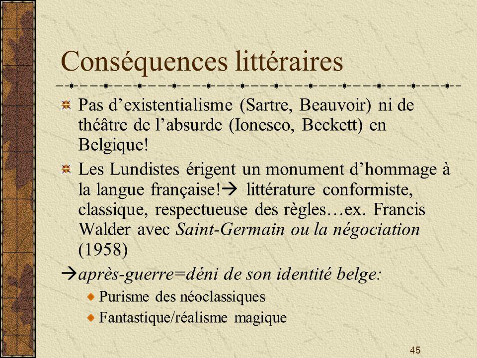 Conséquences littéraires