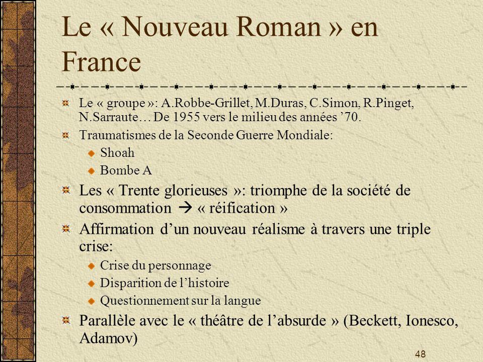 Le « Nouveau Roman » en France