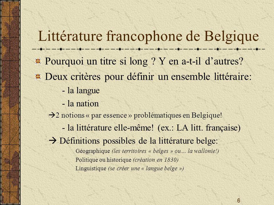 Littérature francophone de Belgique
