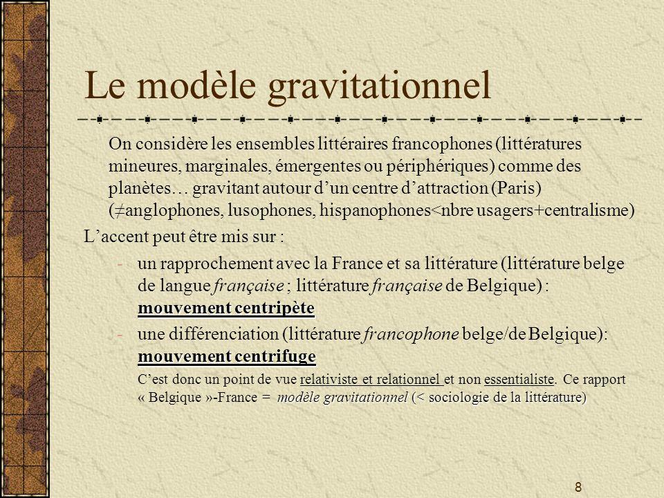 Le modèle gravitationnel