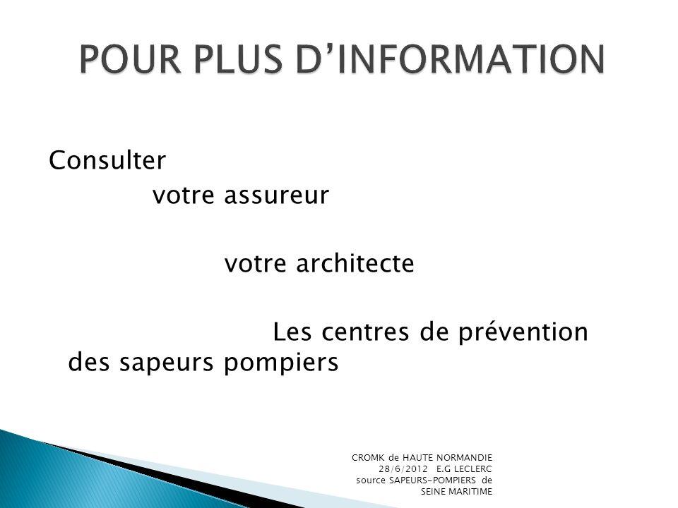 POUR PLUS D'INFORMATION