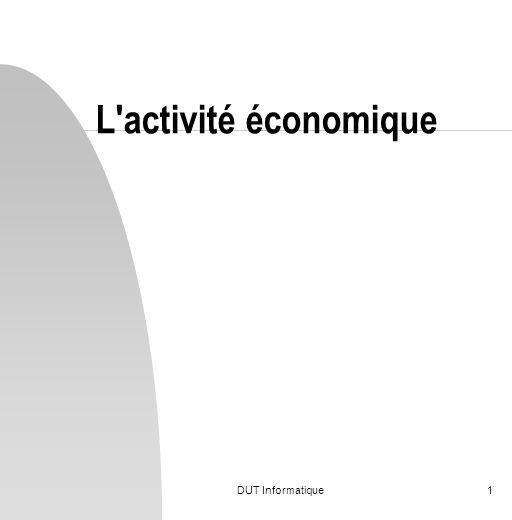 L activité économique DUT Informatique