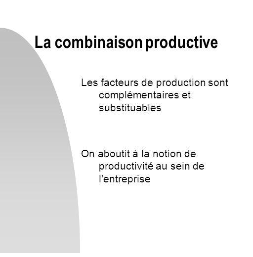 La combinaison productive