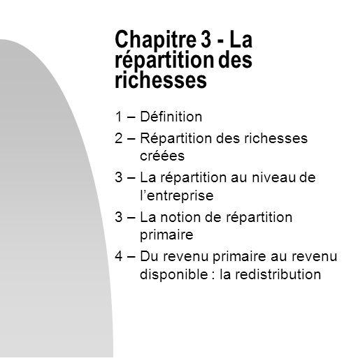 Chapitre 3 - La répartition des richesses