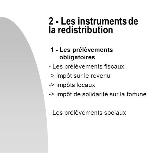 2 - Les instruments de la redistribution