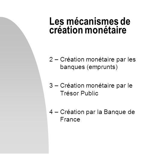 Les mécanismes de création monétaire