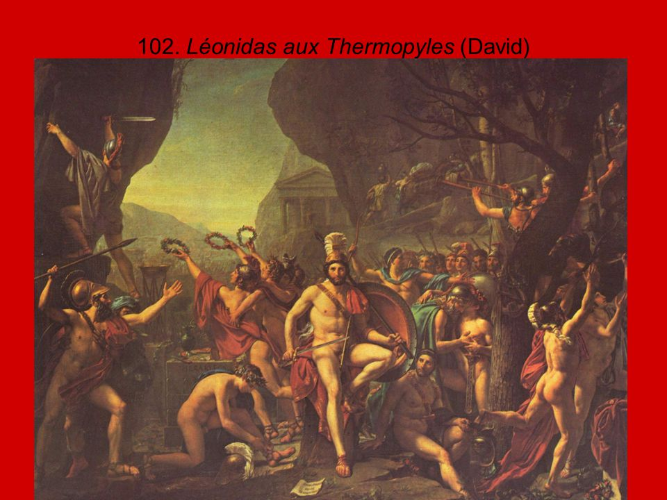 102. Léonidas aux Thermopyles (David)