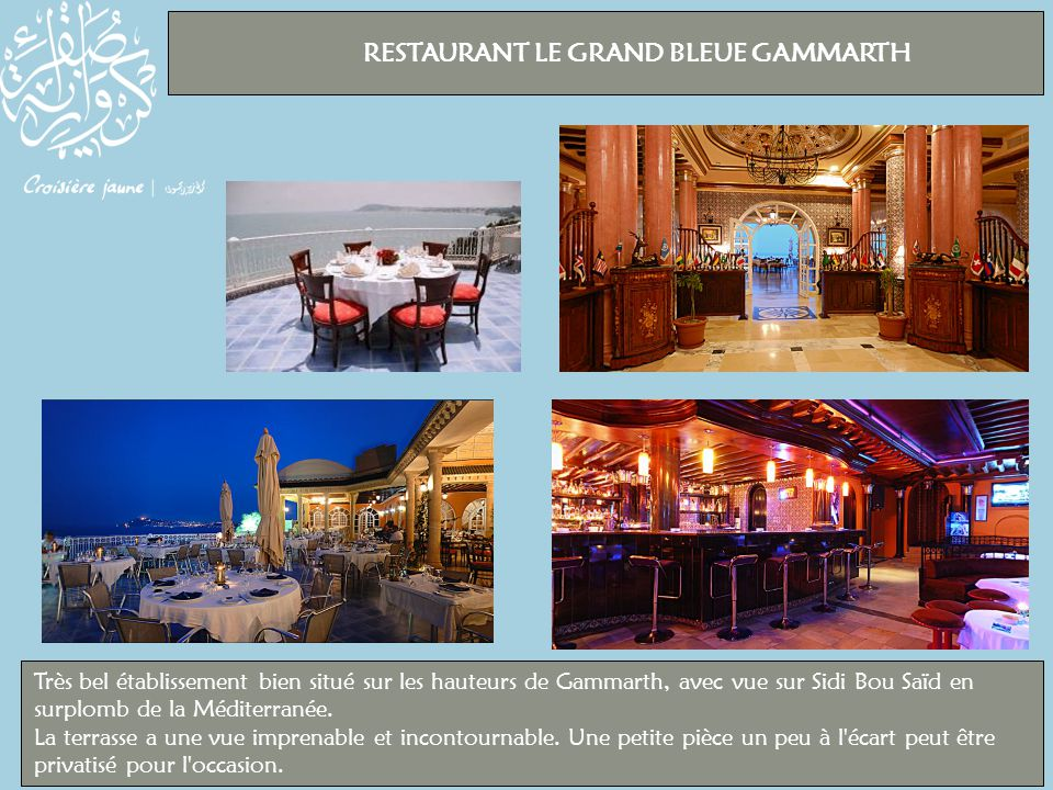RESTAURANT LE GRAND BLEUE GAMMARTH