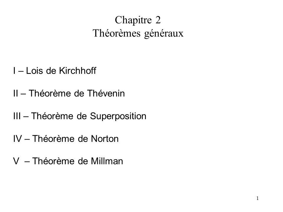 Chapitre 2 Théorèmes généraux