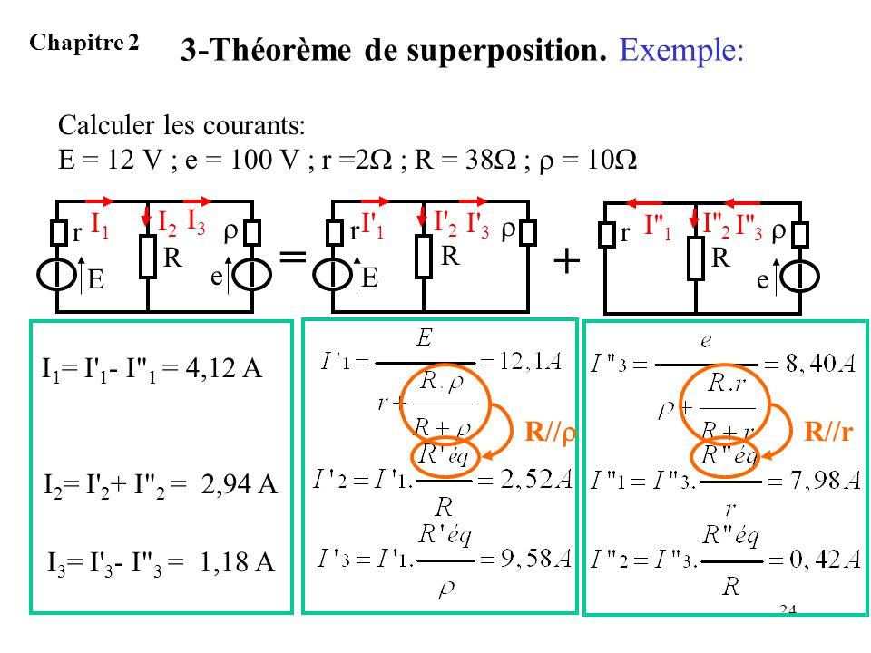 3-Théorème de superposition. Exemple: