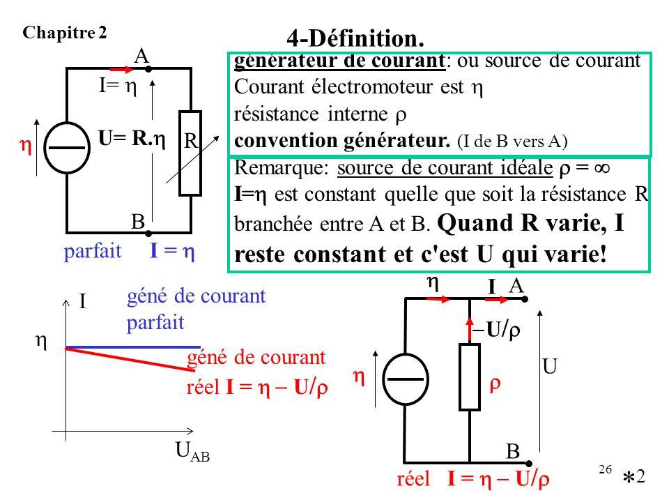 *2 4-Définition. A générateur de courant: ou source de courant