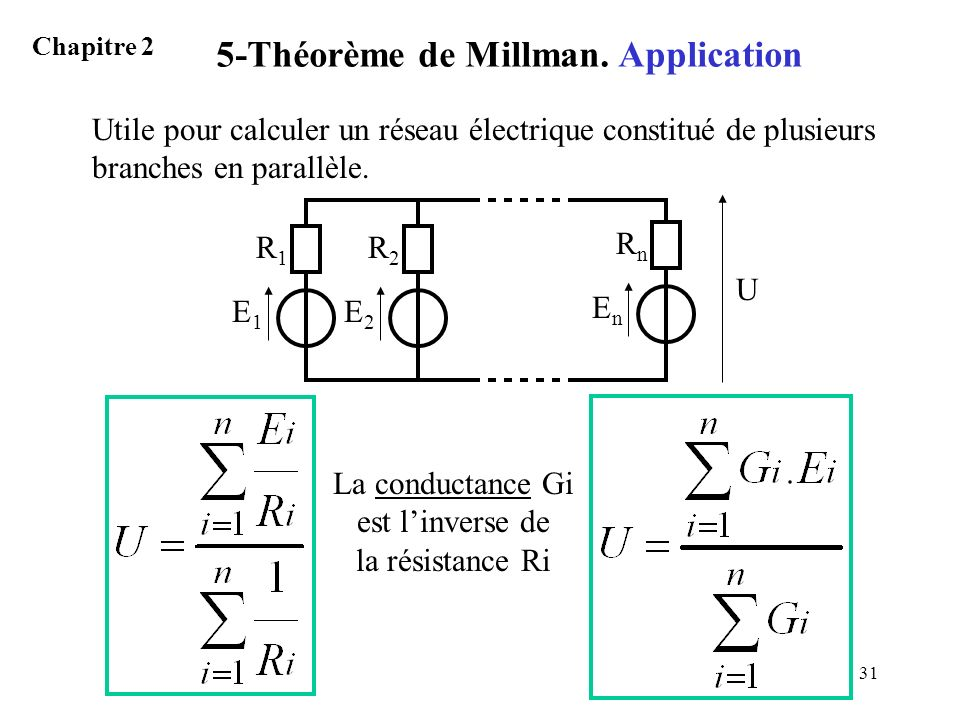 5-Théorème de Millman. Application
