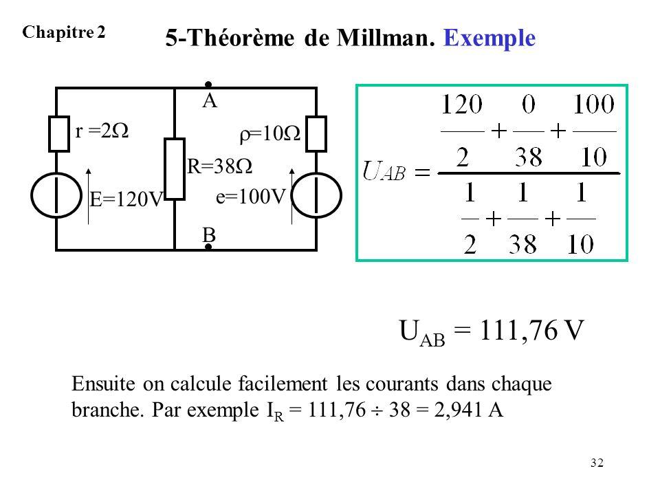 5-Théorème de Millman. Exemple